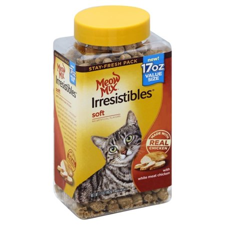 Meow Mix Irresistibles Cat Treats - Soft With White Meat Chicken, 17-Ounce (Cat Soft Cream)