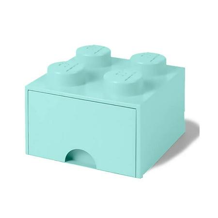 LEGO Brick Drawer, 4 Knobs, 1 Drawer, Stackable Storage Box, Mint Green - image 1 de 1