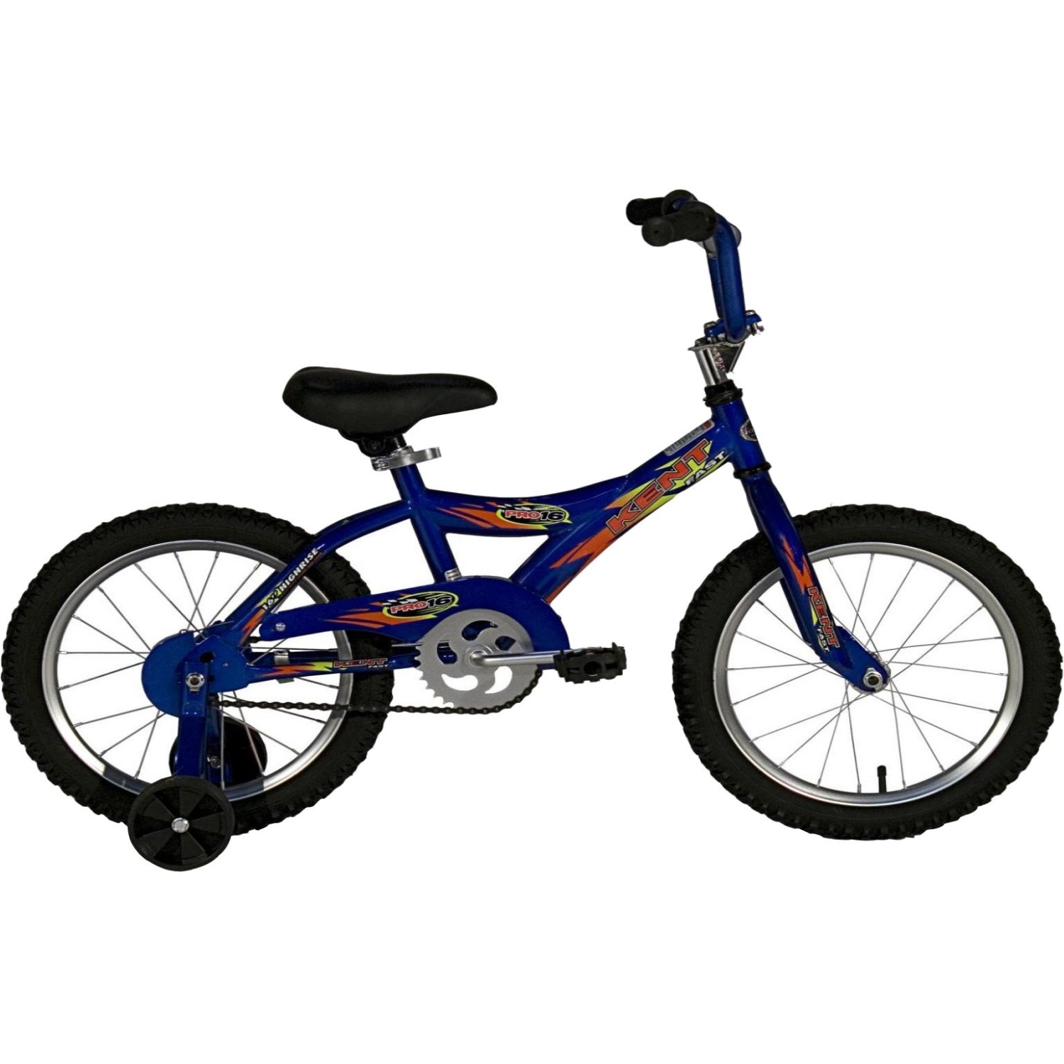 Kent Pro Kids Bicycle With Training Wheels, 16 in Front, 16 in Rear, Steel Frame by Kent International, Inc