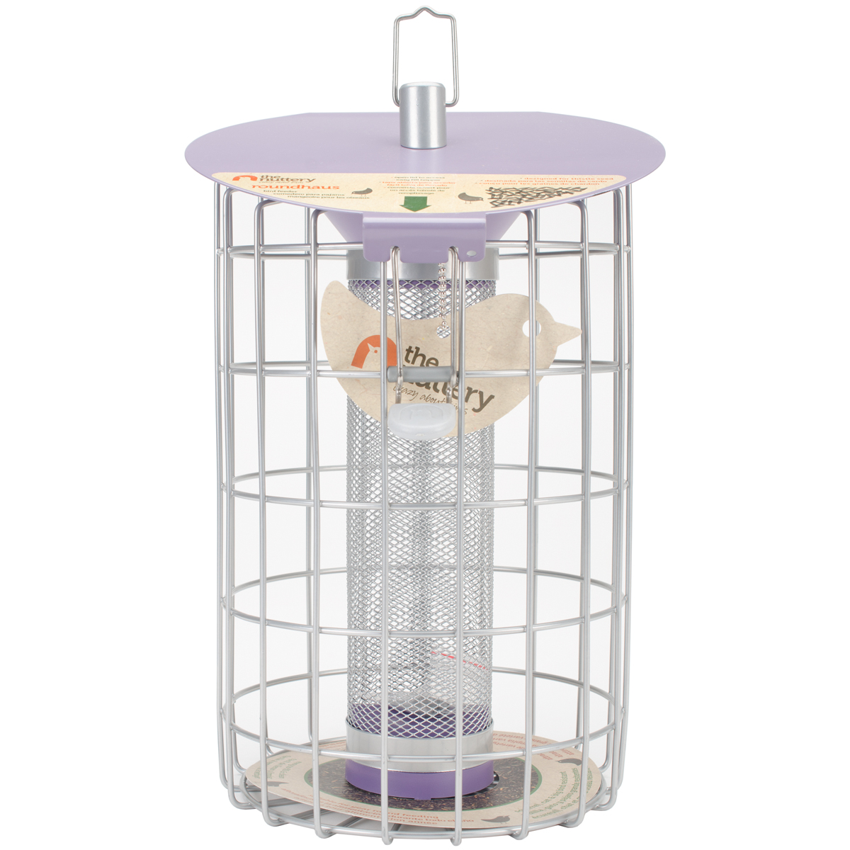 "The Nuttery Roundhaus Thistle Feeder - 13.2""H x 9.1""W x 9""D"