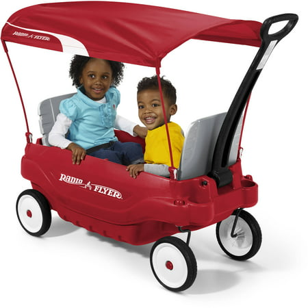 radio flyer deluxe family canopy wagon. Black Bedroom Furniture Sets. Home Design Ideas