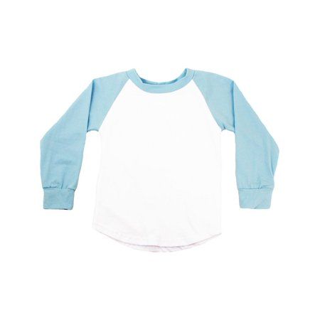 3c4875732 Unisex Little Kids Light Blue Two Tone Long Sleeve Raglan Baseball T-Shirt