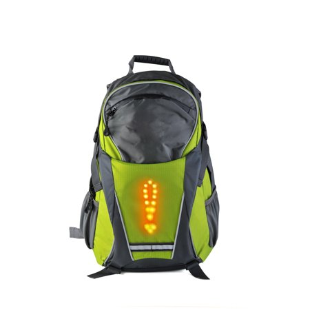 Turn Signal Light LED Reflective Sport Backpack 18 Liter Waterproof for Night Cycling Safety Outdoor