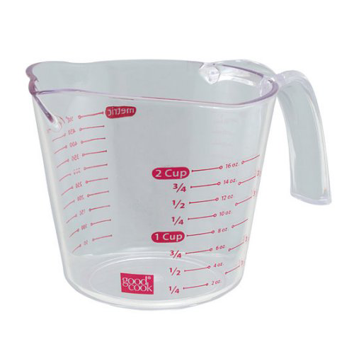 BRADSHAW INTERNATIONAL 19864 2Cup Plastic Measuring Cup