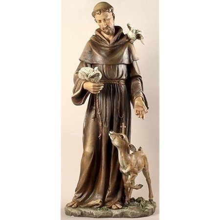 Renaissance Collection Joseph's Studio by Roman Exclusive Saint Francis with Animals Statue, 36.5-Inch