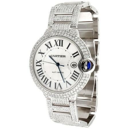 Men's Ballon Bleu de Cartier Large Fully Loaded Diamond 14.5 Ct 39mm Watch ()