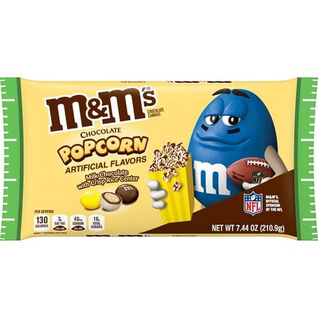 M&Ms Milk Chocolate Popcorn, Halloween Chocolate Candy , 7.44 oz Bag