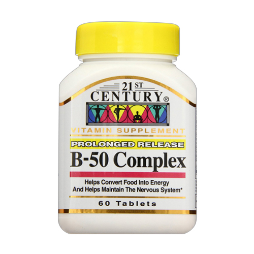 Image of 21St Century B-50 Complex Prolonged Release Tablets - 60 Ea