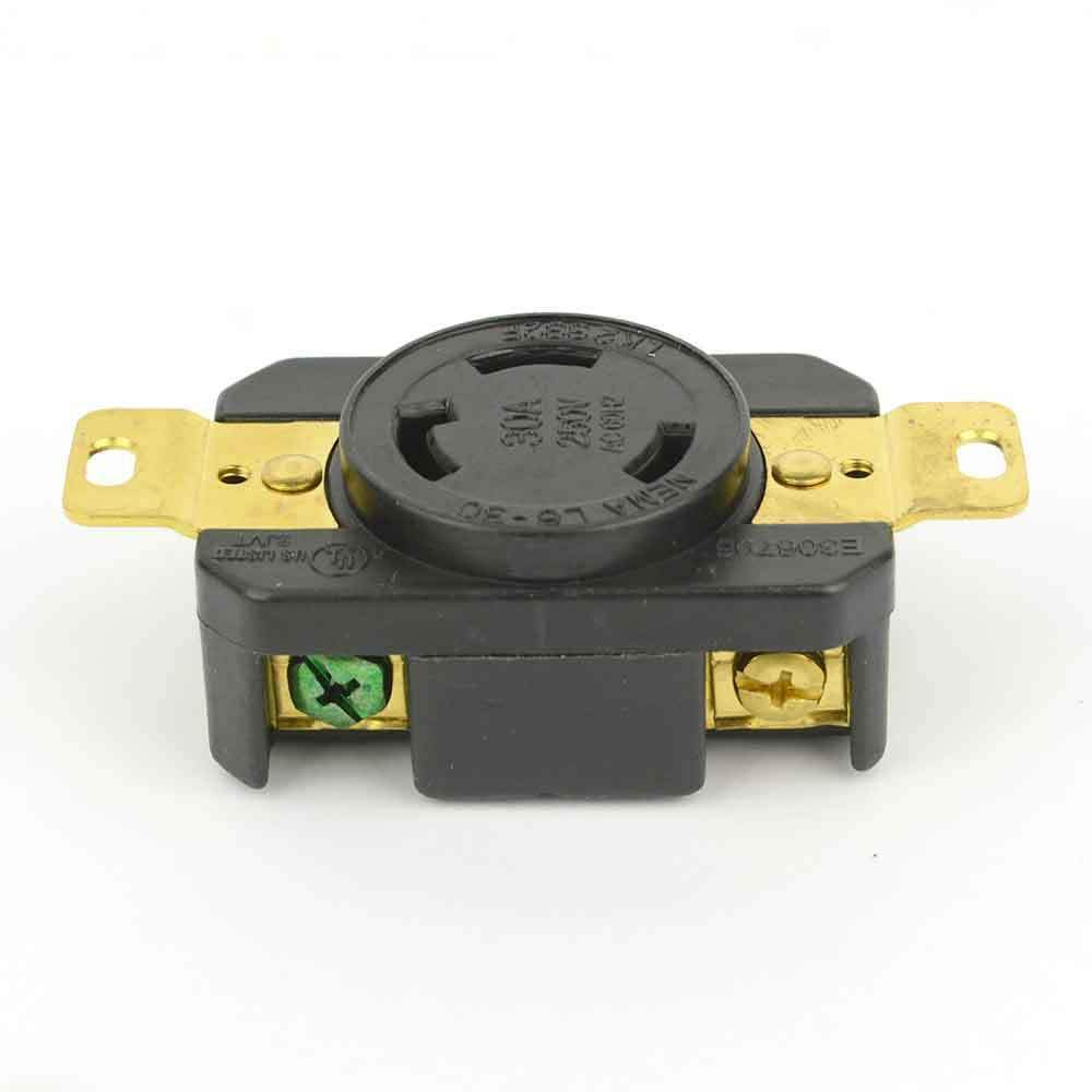Female Twist Lock Wall Mount Electrical Receptacle 3 Wire