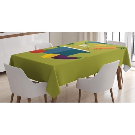 Stupendous Vegetable Art Tablecloth Vegetarian Soup With Ingredients Cooking Pot Diet Heath Well Being Theme Rectangular Table Cover For Dining Room Kitchen Download Free Architecture Designs Jebrpmadebymaigaardcom