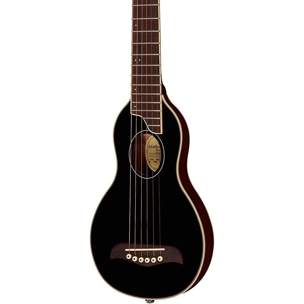 Washburn Rover Travel Guitar Black by Washburn