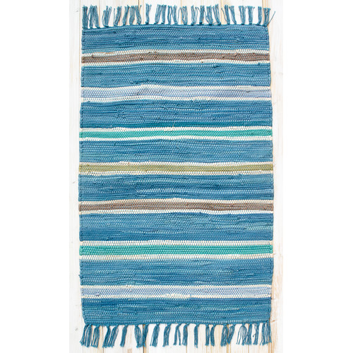 CLM Cottage Bermuda Blue Stripe Rug