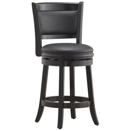 Excellent Boraam Augusta 24 Swivel Counter Stool Black Creativecarmelina Interior Chair Design Creativecarmelinacom