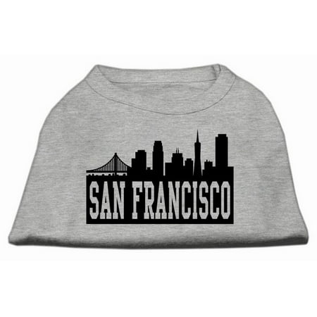 San Francisco Skyline Screen Print Shirt Grey XXL (18)