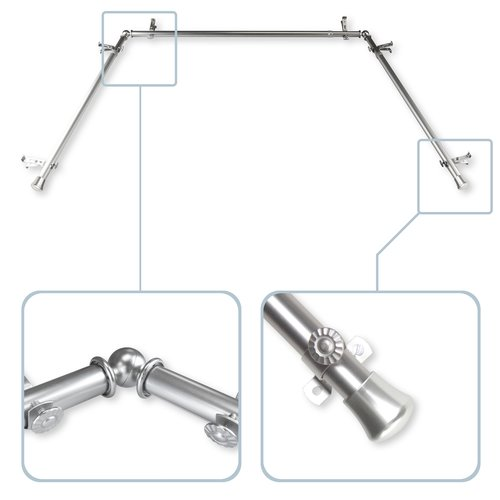 Click here to buy Bloomsbury Market Bay Window Curtain Single Rod and Hardware Set.
