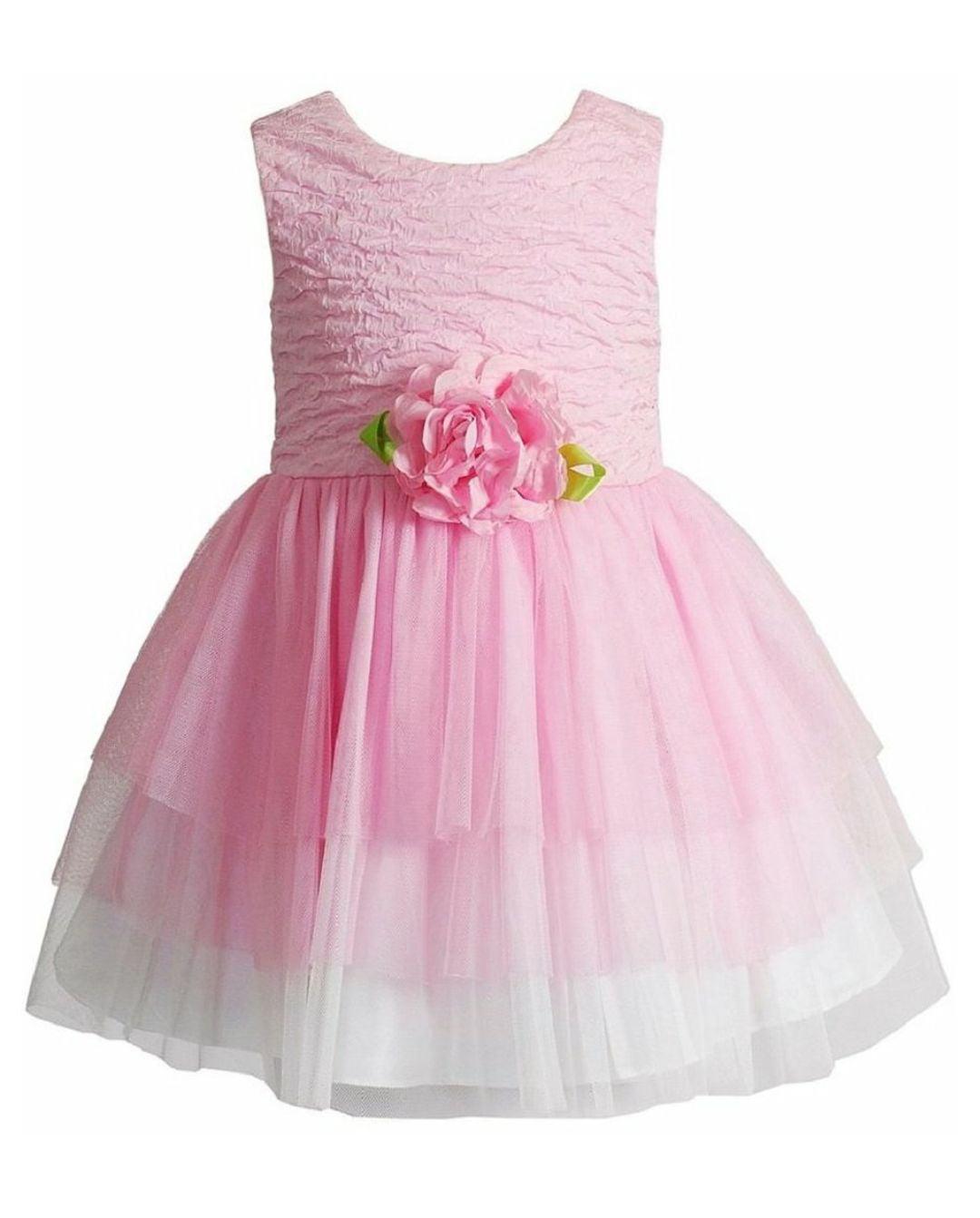 Youngland Toddler Girls Sleeveless Pink Easter Ballerina Tutu Dress