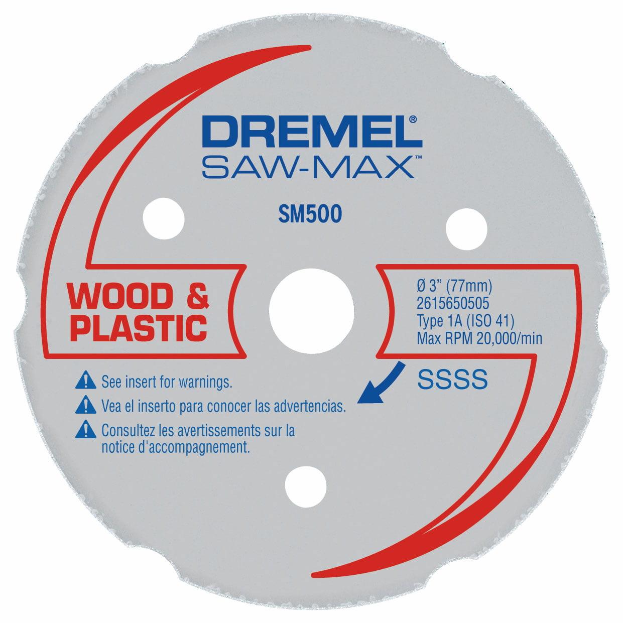 Dremel SM500 Saw-Max 3 inch Carbide Multi-Purpose Wheel for Wood, Plywood, Composites, Laminate Flooring, Drywall, PVC, and Plastics