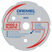 Dremel SM500 Saw-Max 3 inch Carbide Multi-Purpose Wheel for Wood, Plywood, Composites, Laminate Flooring, Drywall, PVC, and Plastics