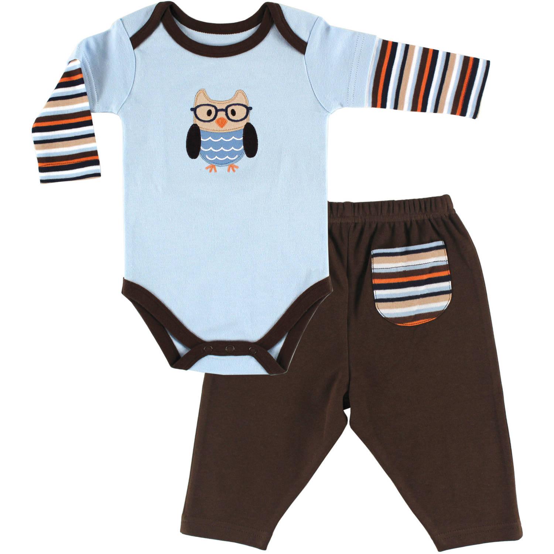 Hudson Baby Newborn Baby Boys Long Sleeve Bodysuit & Pant