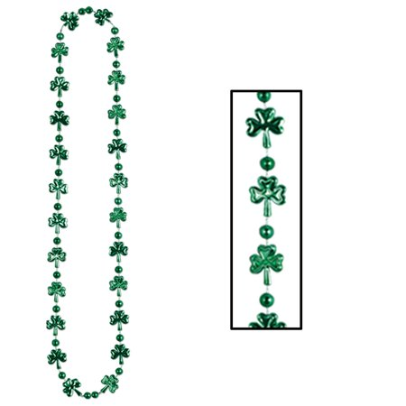 (12ct) St. Patricks Day Party Shamrock Beads (Patricks Supply)