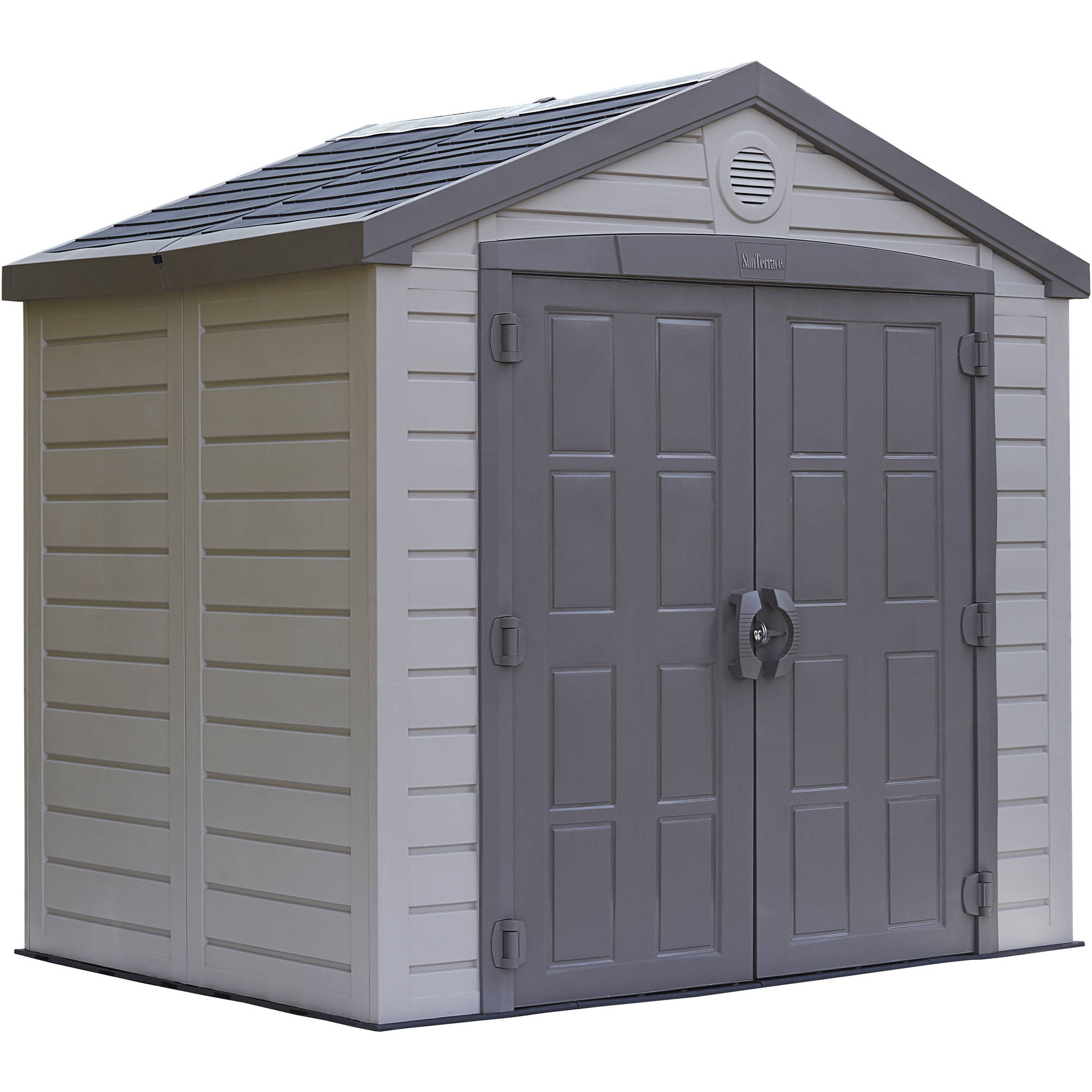 Keter 8' x 6' Sunterrace Resin Storage Shed, Beige