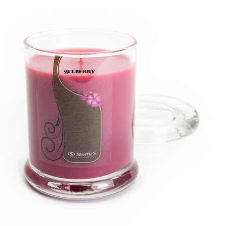- Mulberry Candle - 6.5 Oz. Highly Scented Dark Red Jar Candle - Christmas Candles Collection