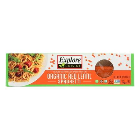 (12 Pack) Explore Cuisine Organic Red Lentil Spaghetti, 8 Oz
