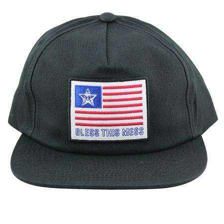 a864850391db9 Obey Bless Snapback Hat Black - Walmart.com