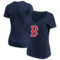 Women's Majestic Navy Boston Red Sox Top Ranking V-Neck T-Shirt