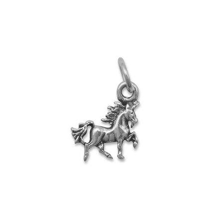 Unicorn Charm Sterling Silver Antiqued Finish - Unicorn Charm