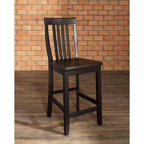 "Crosley Furniture School House Bar Stool with 24"" Seat Height, 2pk"