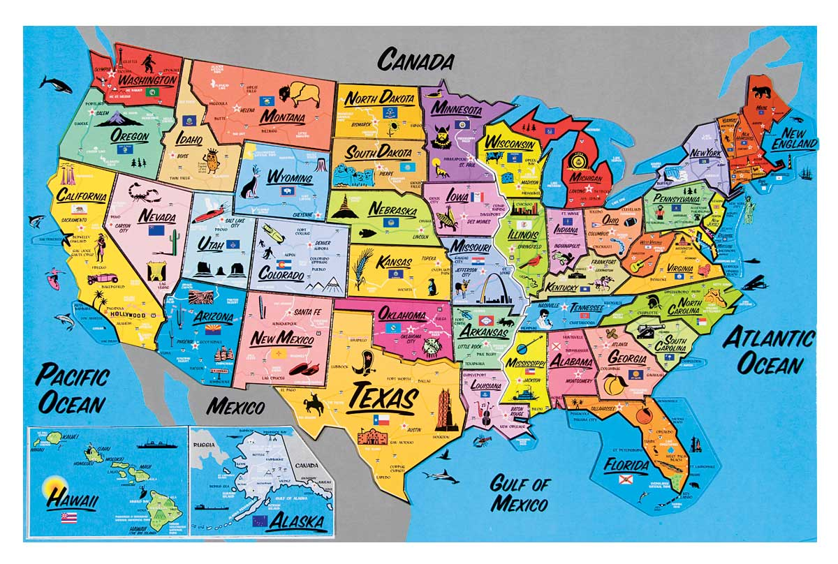 USA Magnetic Map Puzzle   Walmart.com