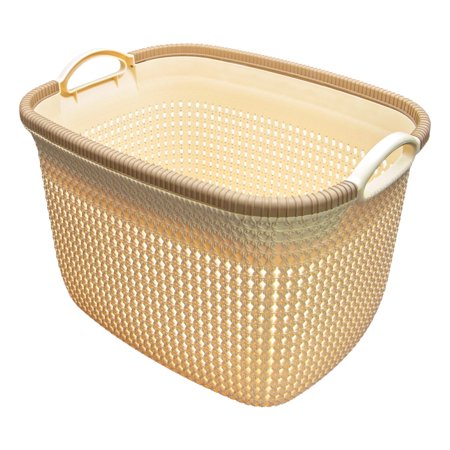 - Lotus Decorative Rattan Basket - Large Tall