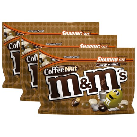 (3 Pack) M & M's Coffee Nut Peanut Chocolate Candies, 9.6 oz