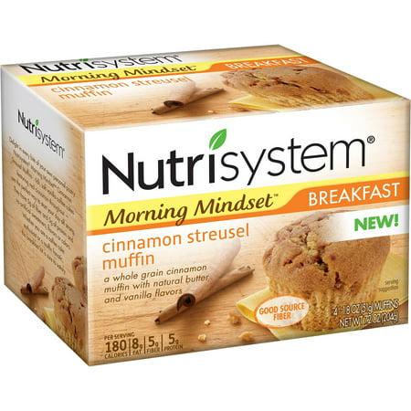 Nutrisystem Morning Mindset Cinnamon Streusel Muffins  1 8 Oz  4 Count