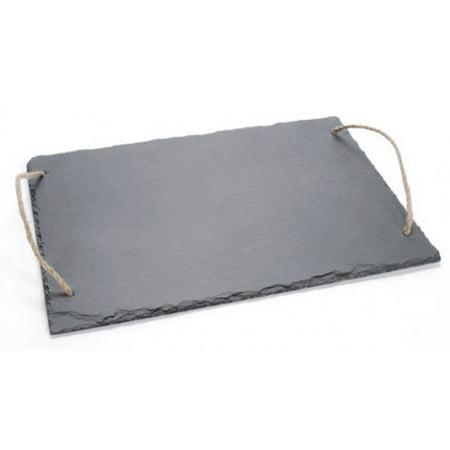 Koyal Wholesale Slate Tray with Jute -