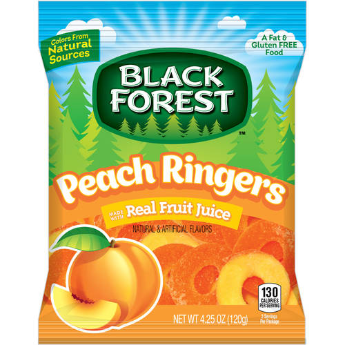 Black Forest Peach Ringers Candy, 4.25 oz