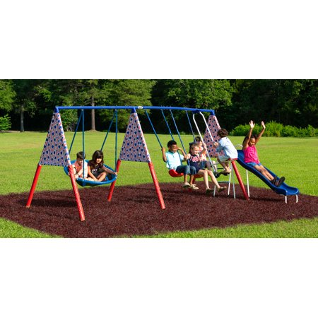 XDP Recreation Freedom Swing Metal Swing (Rainbow Swing Set)