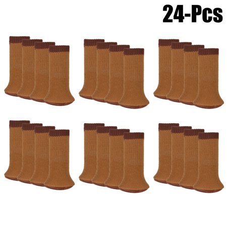 Chair Socks Set,Kapmore 24PCS Anti-skid Wool Knitted Chair Leg Floor Protectors Furniture Leg Covers with Thick Bottom