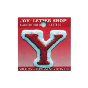 """Joy Applique Letter Iron On Cooper 1.5"""" Red Y"""