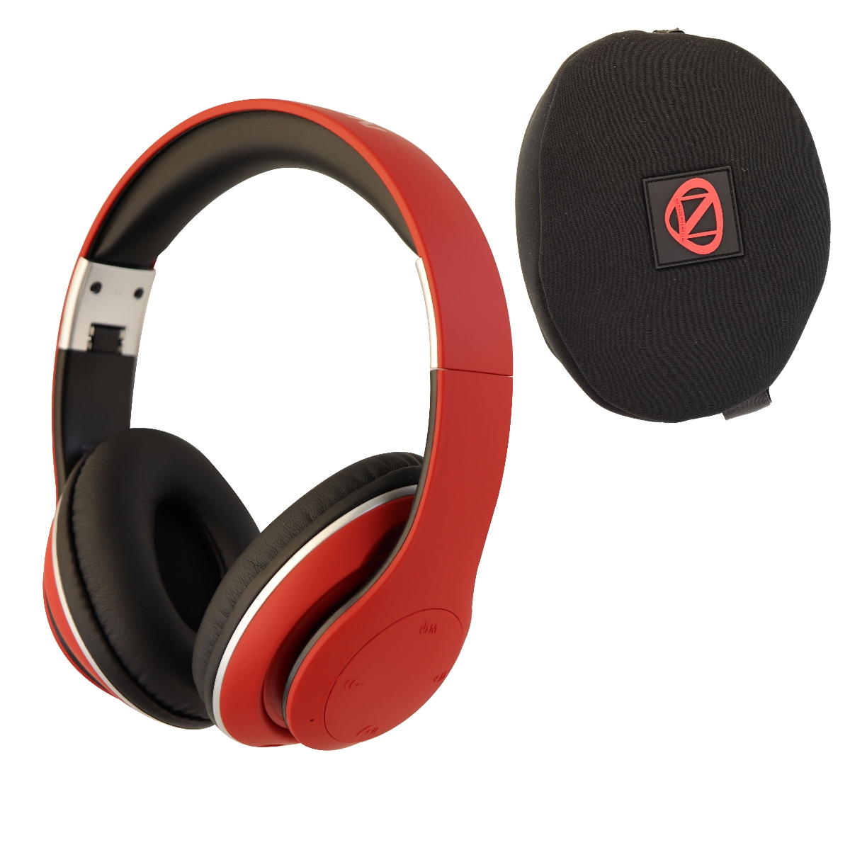 Nick Cannon Ncredible1 Wireless Bluetooth Over-Ear Headphones - Matte Red (Refurbished)
