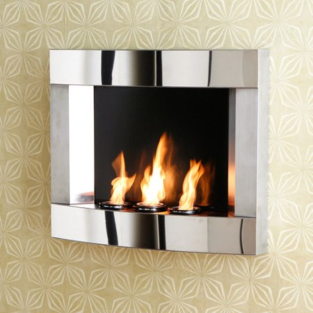 roswell wall mount gel fuel fireplace stainless steel. Black Bedroom Furniture Sets. Home Design Ideas