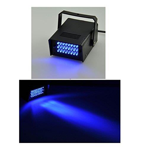 Lightahead Mini LED Strobe Light with 24 Super Bright LEDs Mini Dj Strobe Light Flash Light for Halloween, Club Dj Disco Bar Stage House Party Lighting (BLUE)