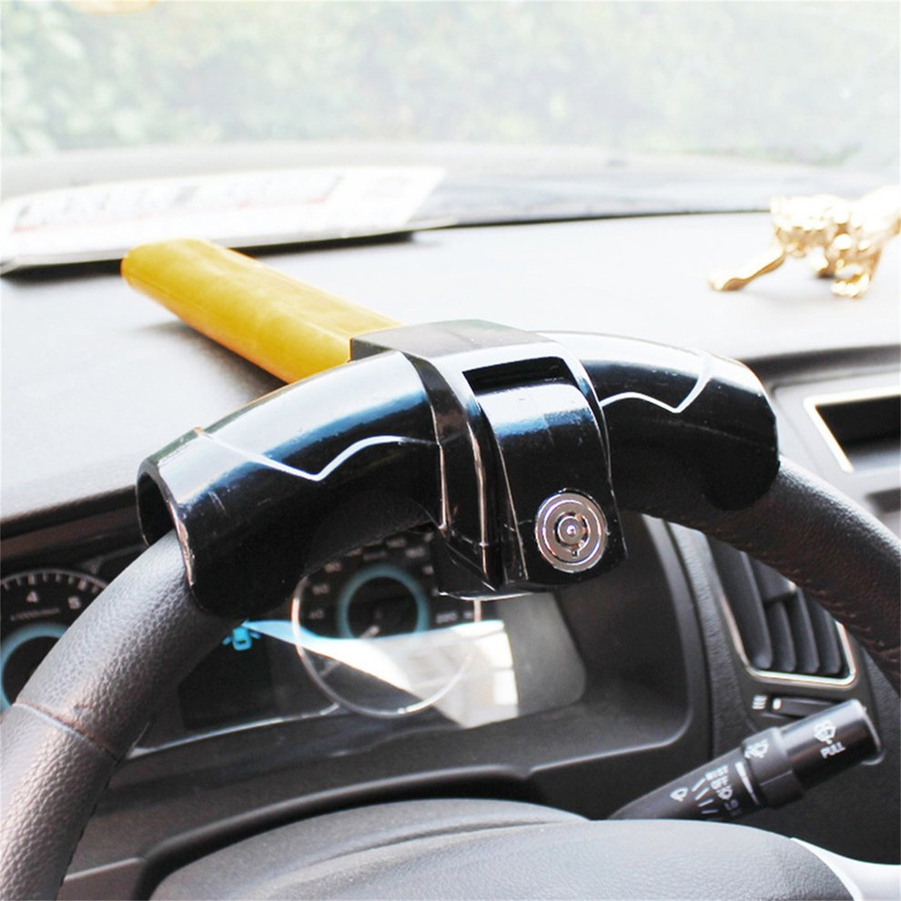 Anti-Theft T-type Automobile Steering Wheel Lock solid Security Lock Unique Key Design Lock Car Steering Wheel Theftproof Lock