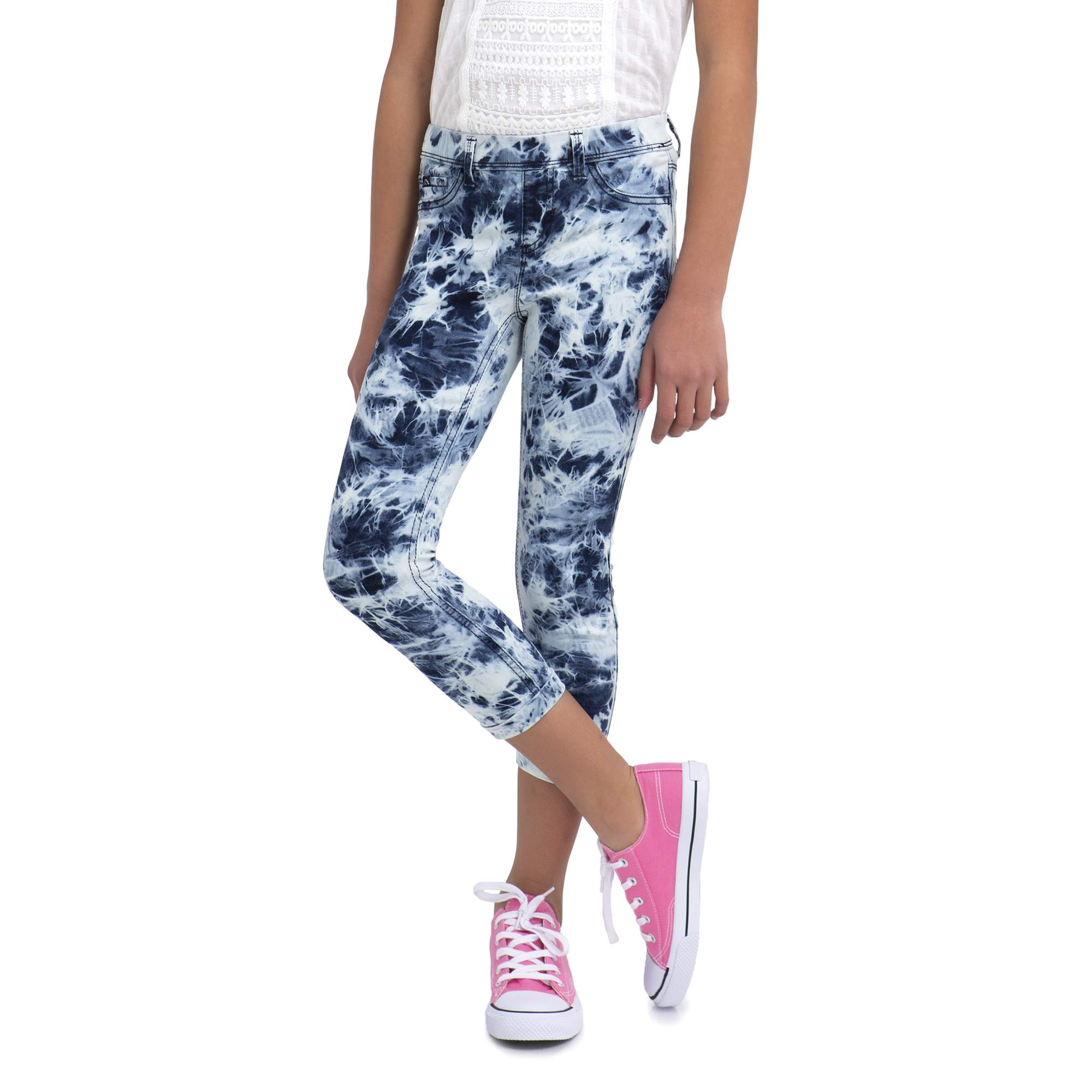 Girls' Tie-Dye Wash Crop Jegging