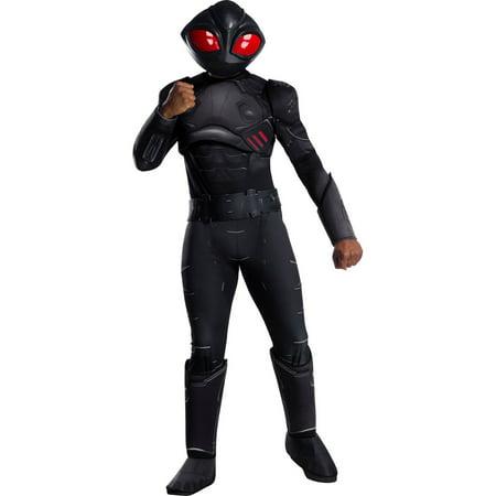 Halloween Aquaman Movie Deluxe Black Manta Adult Costume](Aquaman Kids Costume)