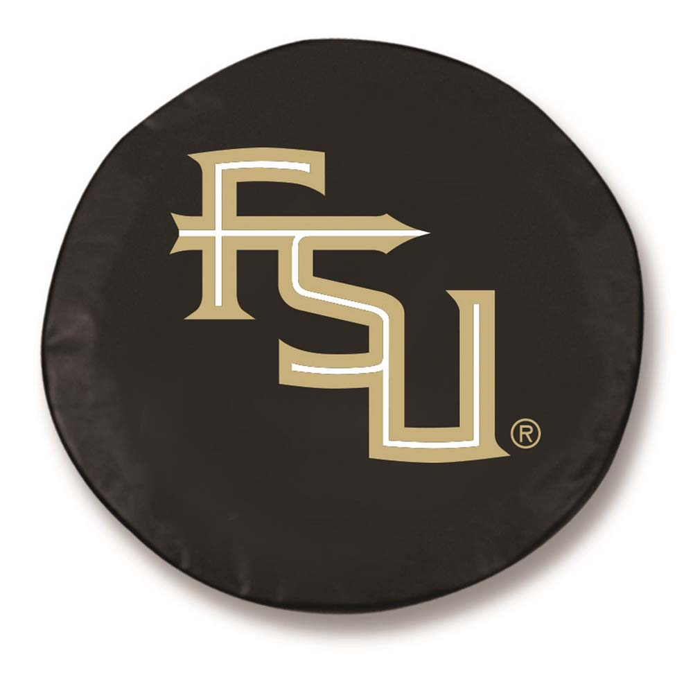Florida State (Script) Large Tire Cover (Black)