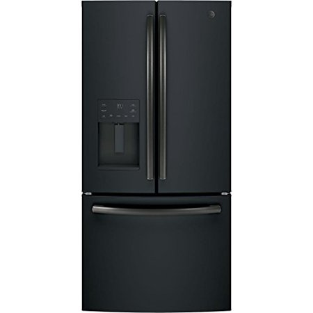 GE GYE18JEMDS Black Slate Series 33 Inch Counter Depth French Door Refrigerator with 17.5 cu. ft. Total Capacity, in Black Slate 800 Series Refrigerator