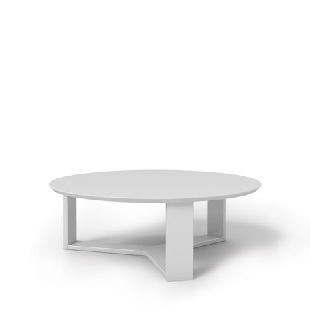 Madison 1 0 35 78 Quot Round Accent Coffee Table In White