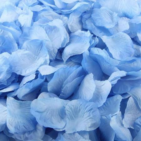 Mosunx 1000pcs Blue Silk Rose Artificial Petals Wedding Party Flower Favors - Blue Rose Petals